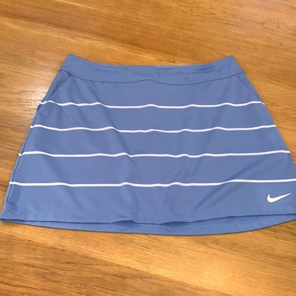 NIKE Golf Dri-Fit~Size L~ Knit Skirt Skort~Stripe~